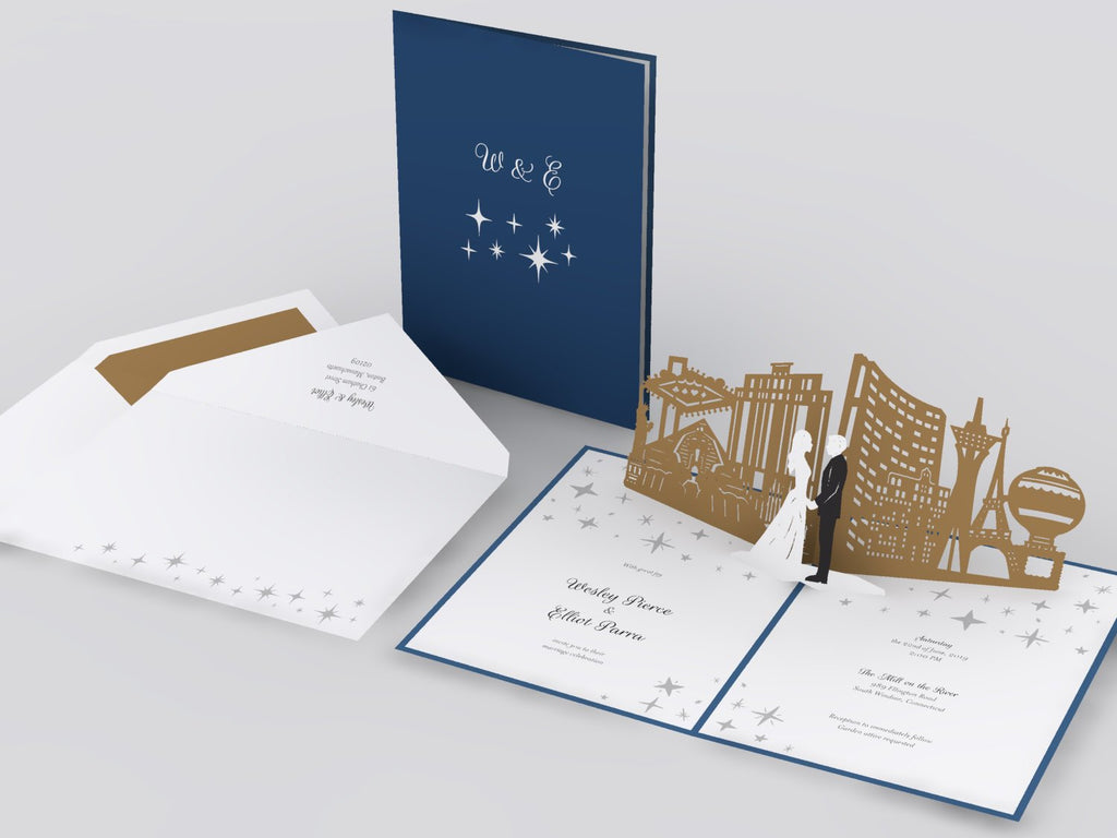 Las Vegas Skyline pop up card