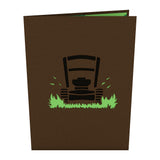 Lawn Mower pop up card - thumbnail