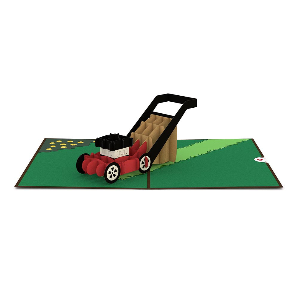 Lawn Mower pop up card