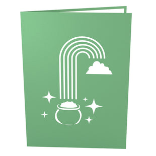 Leprechaun Pop Up St. Patricks Day Card