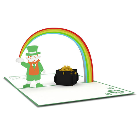 Leprechaun Pop Up St. Patricks Day Card greeting card -  Lovepop