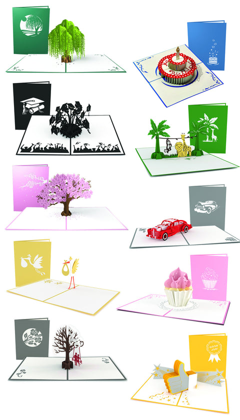 Life Events Pop-up Card 10 Pack greeting card -  Lovepop