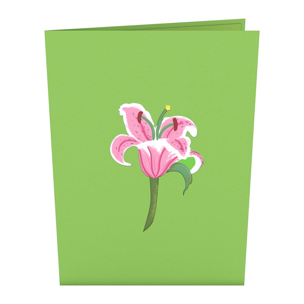 Lily Bloom Pop-Up Card