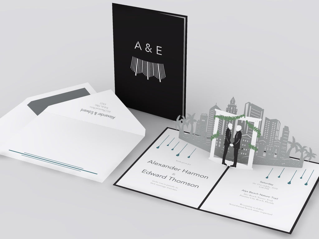 Los Angeles Skyline pop up card