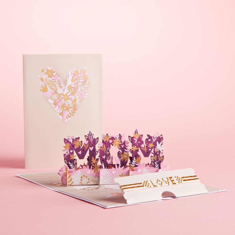 Love for Mom Dazzling Card with Bracelet