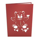 Love Bear                                   pop up card - thumbnail
