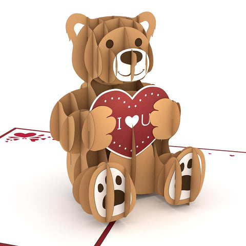 Love Bear Pop Valentine's Day Card greeting card -  Lovepop
