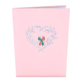 Love Birds                                   pop up card - thumbnail