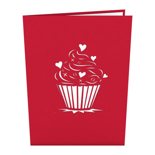 Love Cupcake Pop-up Valentine's Day Card
