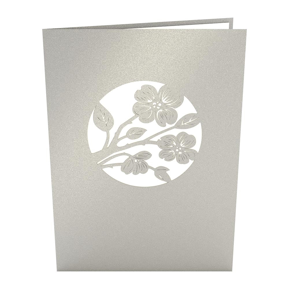 Lovers in a Dogwood Tree Gray pop up card