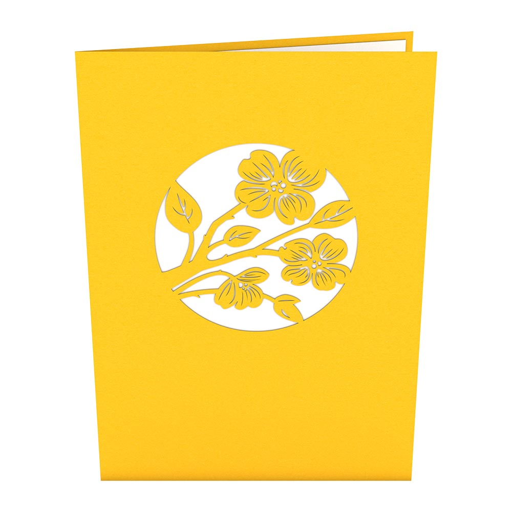 Lovers on a Swing Yellow pop up card
