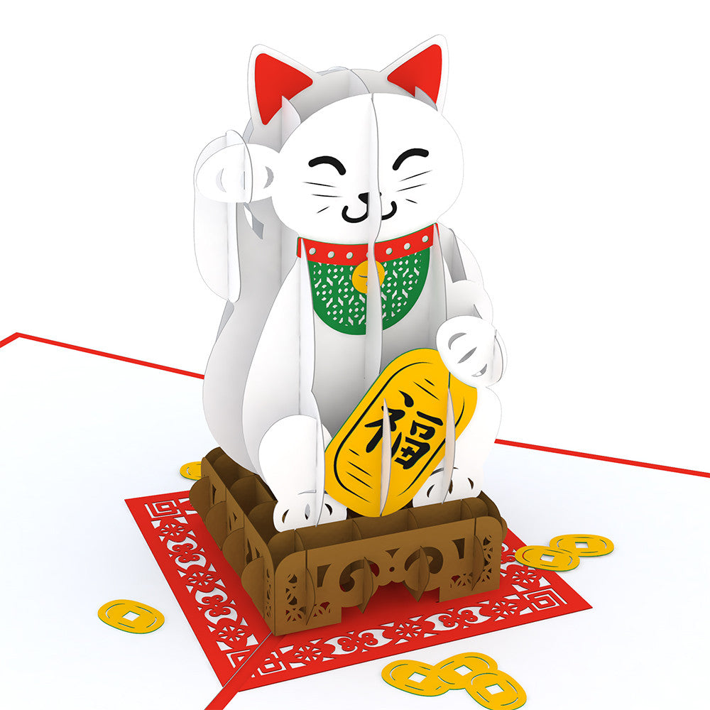 Lucky Cat pop up card