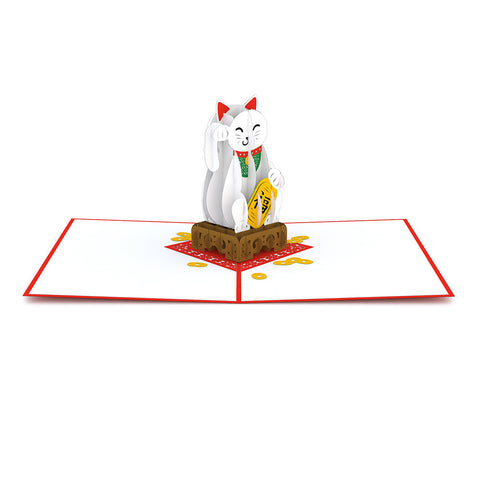Lucky Cat Pop Up Card greeting card -  Lovepop