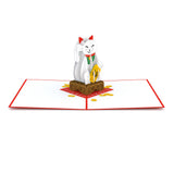 Lucky Cat pop up card - thumbnail