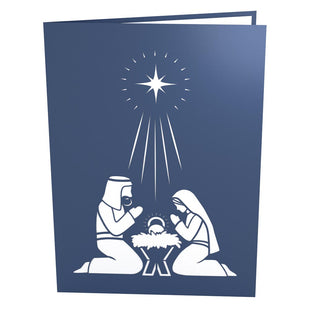 Manger Scene Pop Up Christmas Card