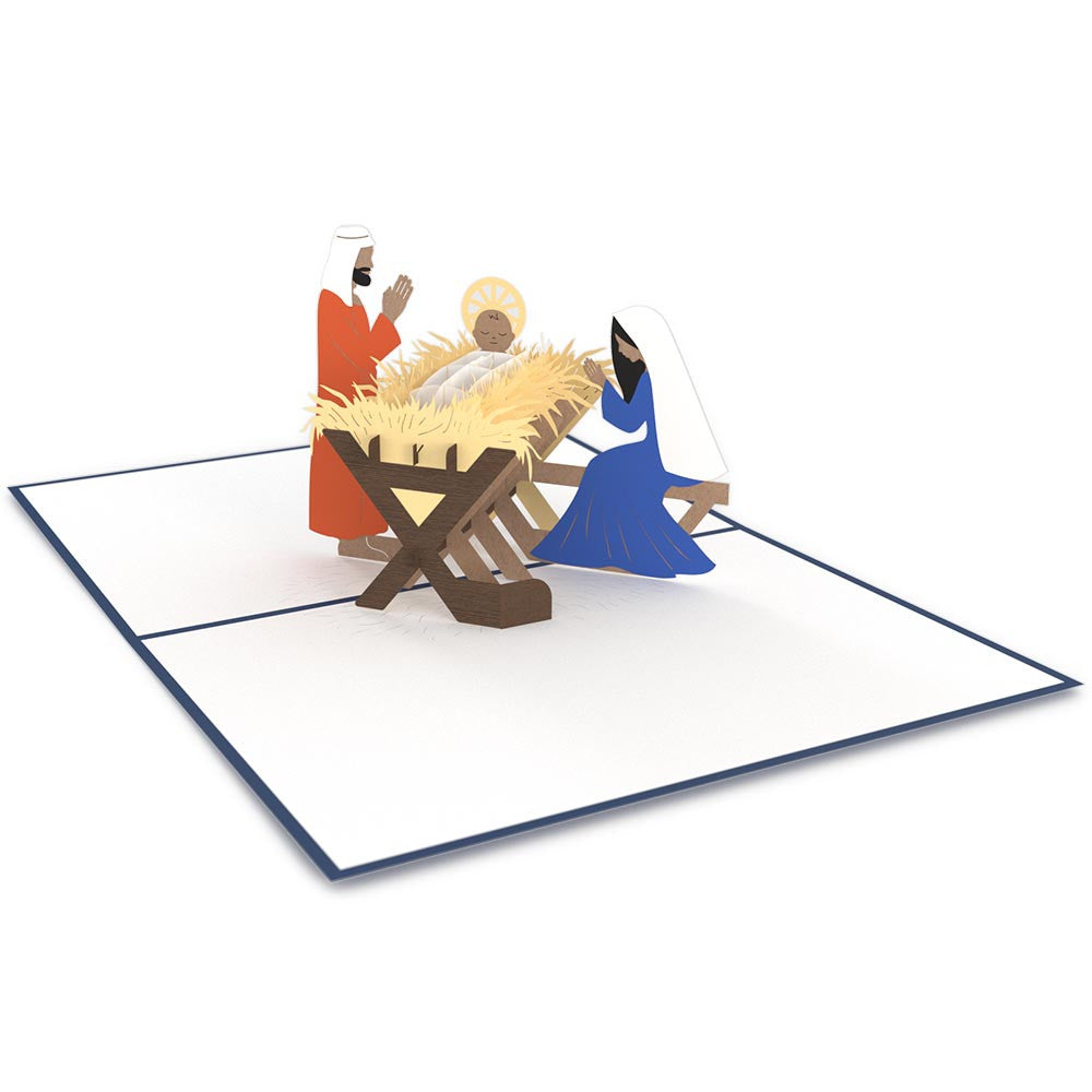 Manger Scene Classic             pop up card