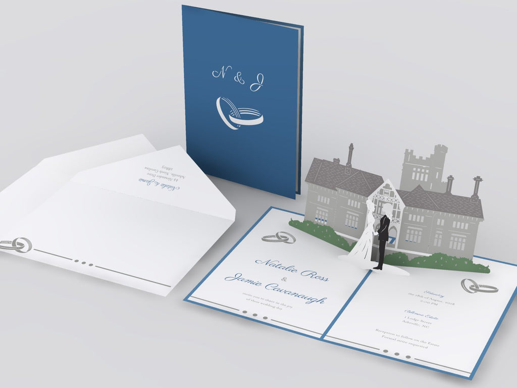 Mansion pop up card