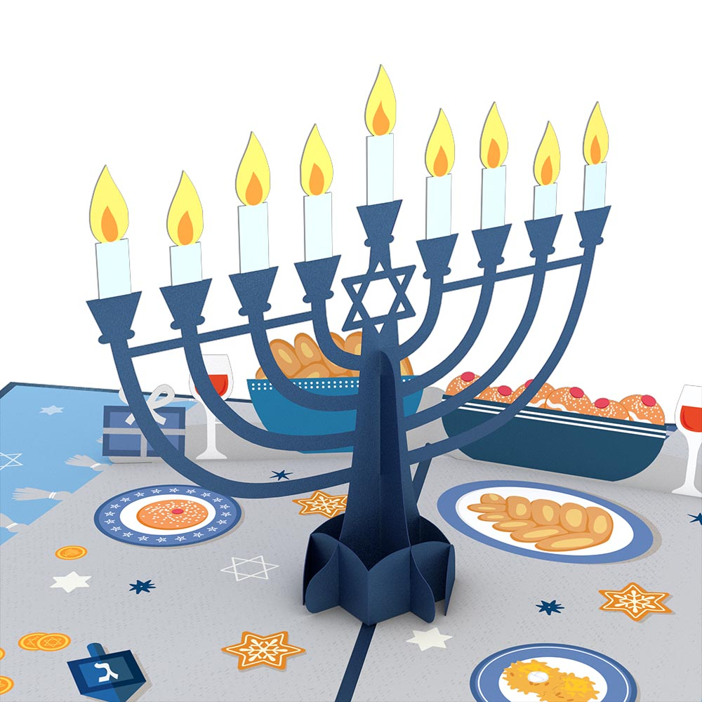 Menorah Lights pop up card
