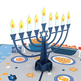 Menorah Lights pop up card - thumbnail