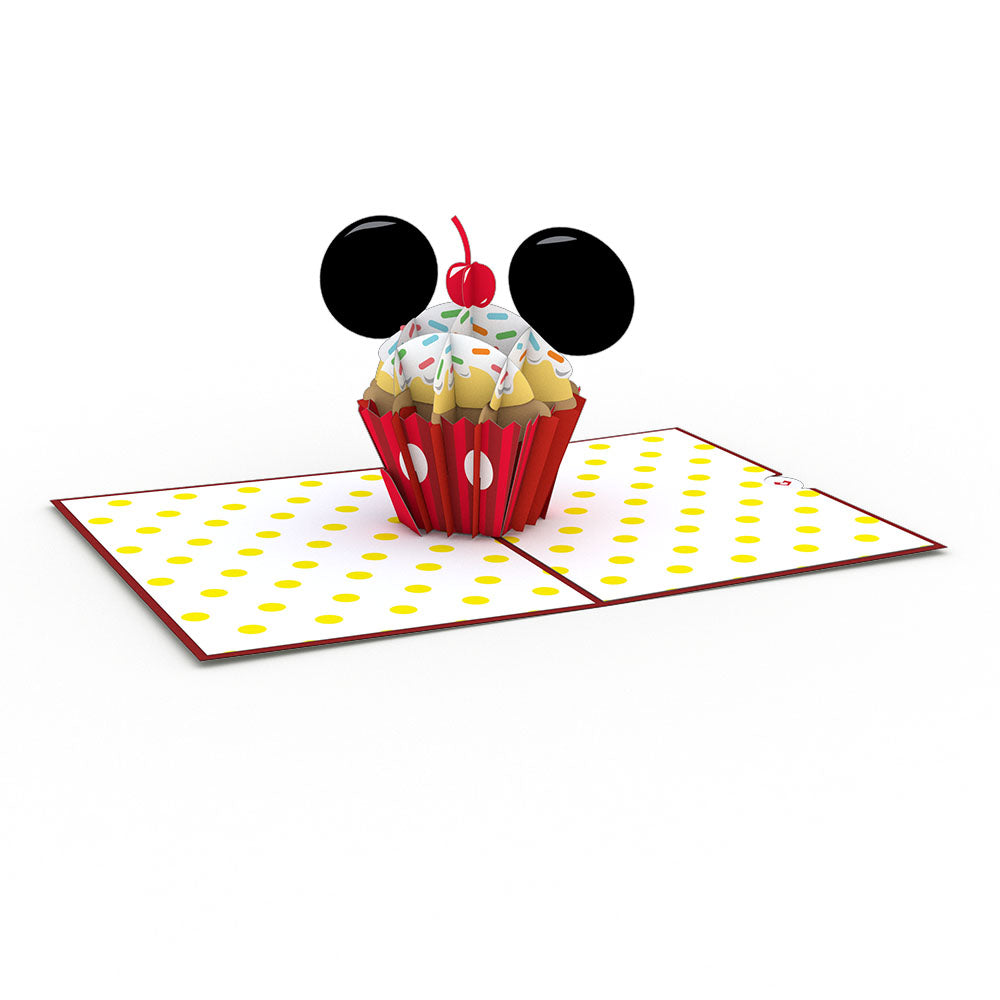 Disney's Mickey Mouse Birthday Cupcake pop up card