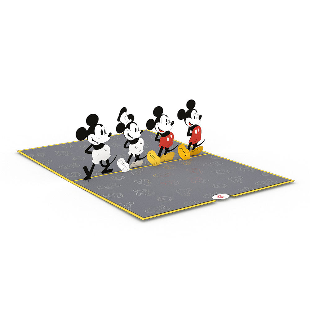 Disney's Mickey Through the Years pop up card