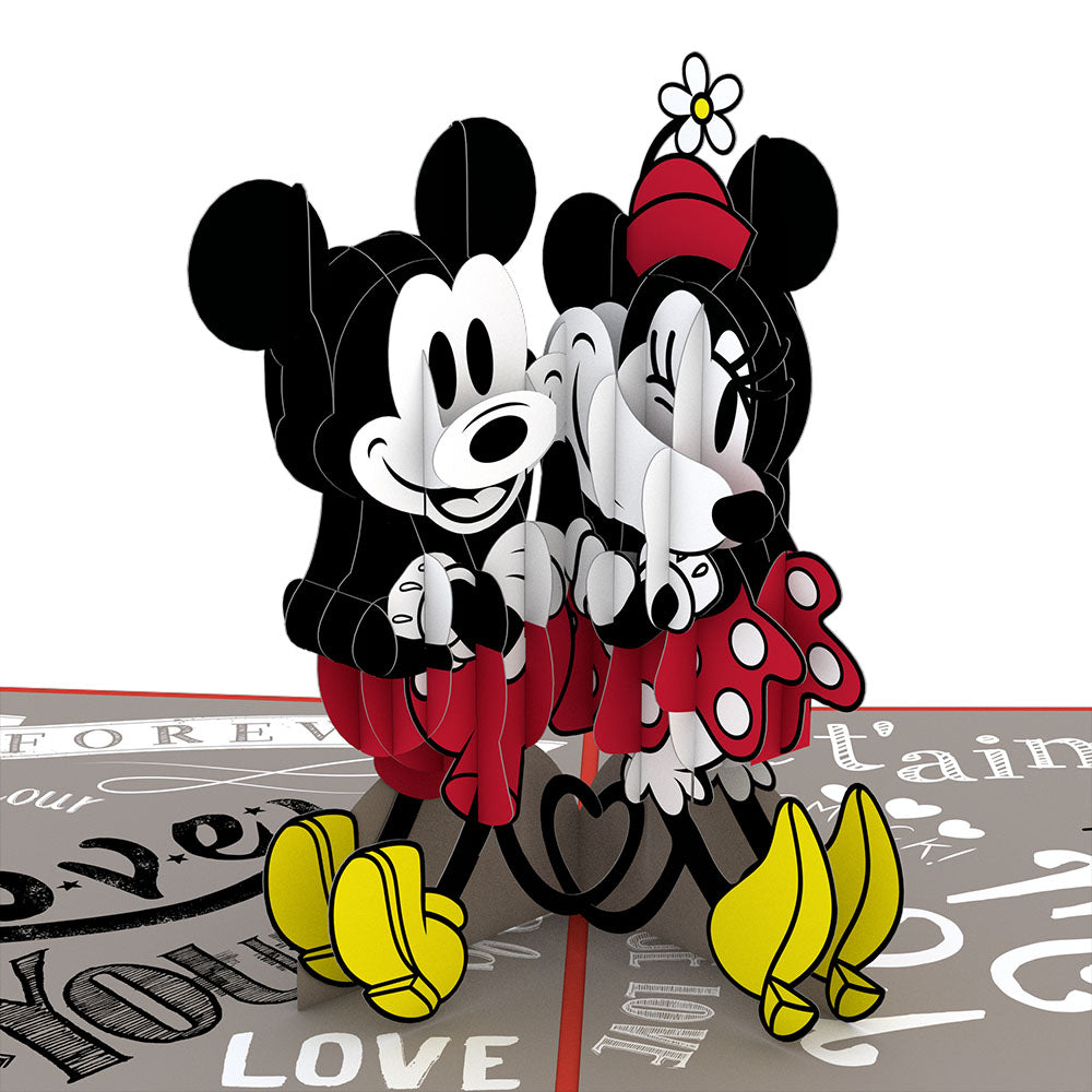 Disney's Mickey and Minnie In Love pop up card