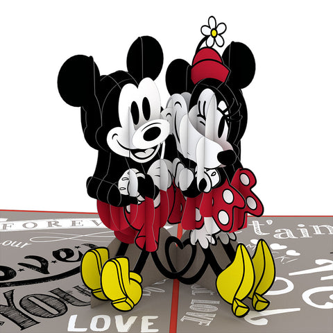 Disney's Mickey and Minnie In Love greeting card -  Lovepop