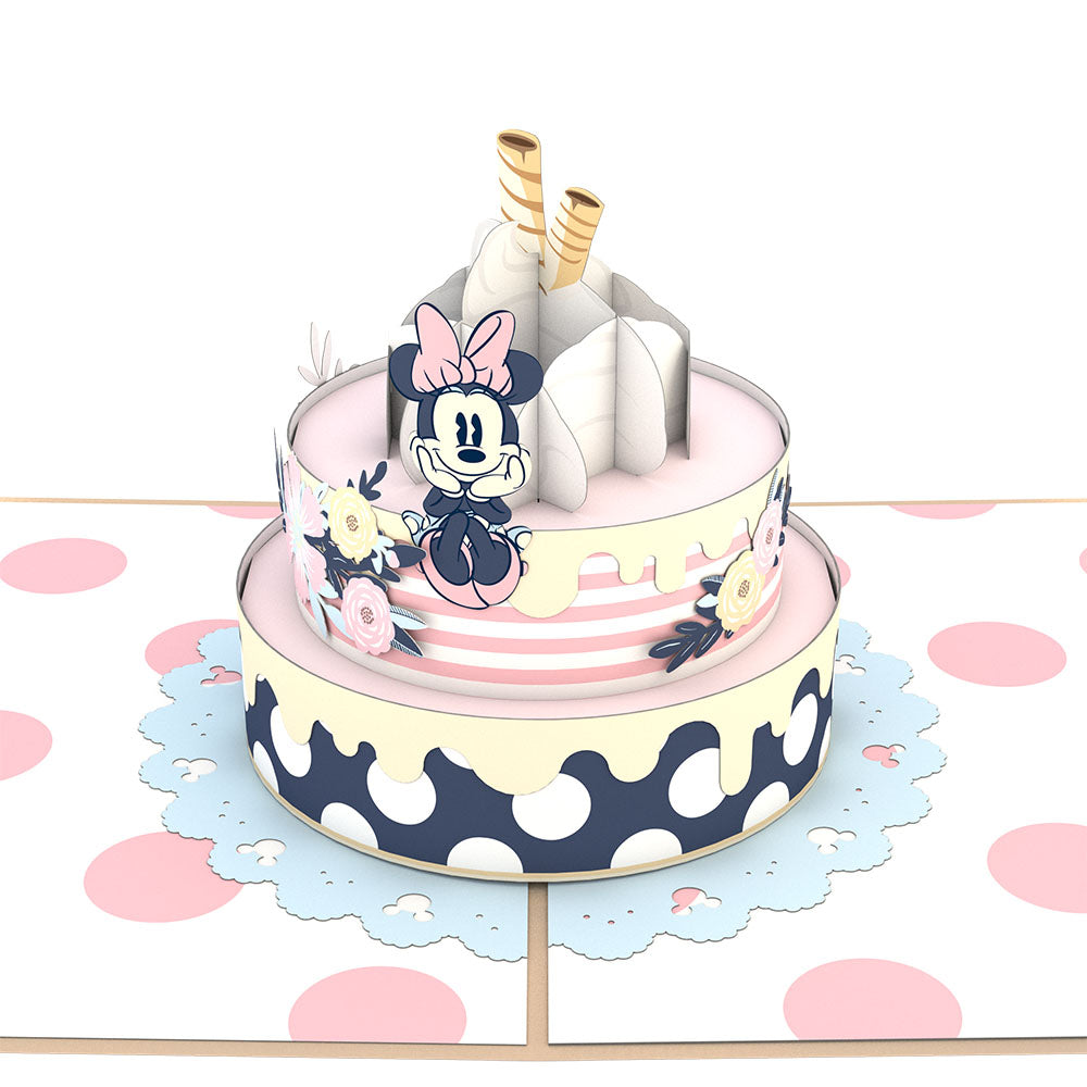 Disney's Minnie Mouse Birthday Cake                                         pop up card