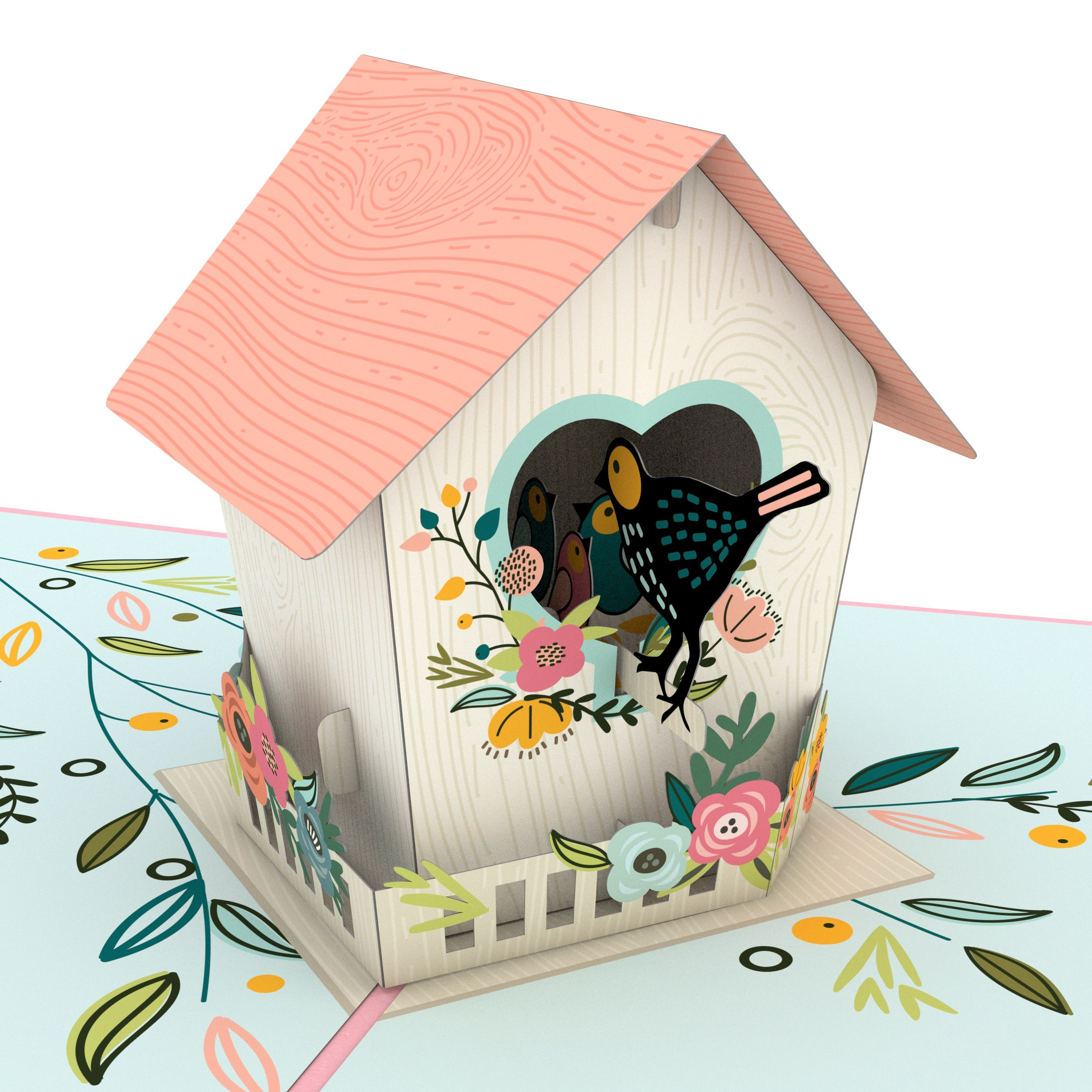 Mother's Day Birdhouse Pop Up Card