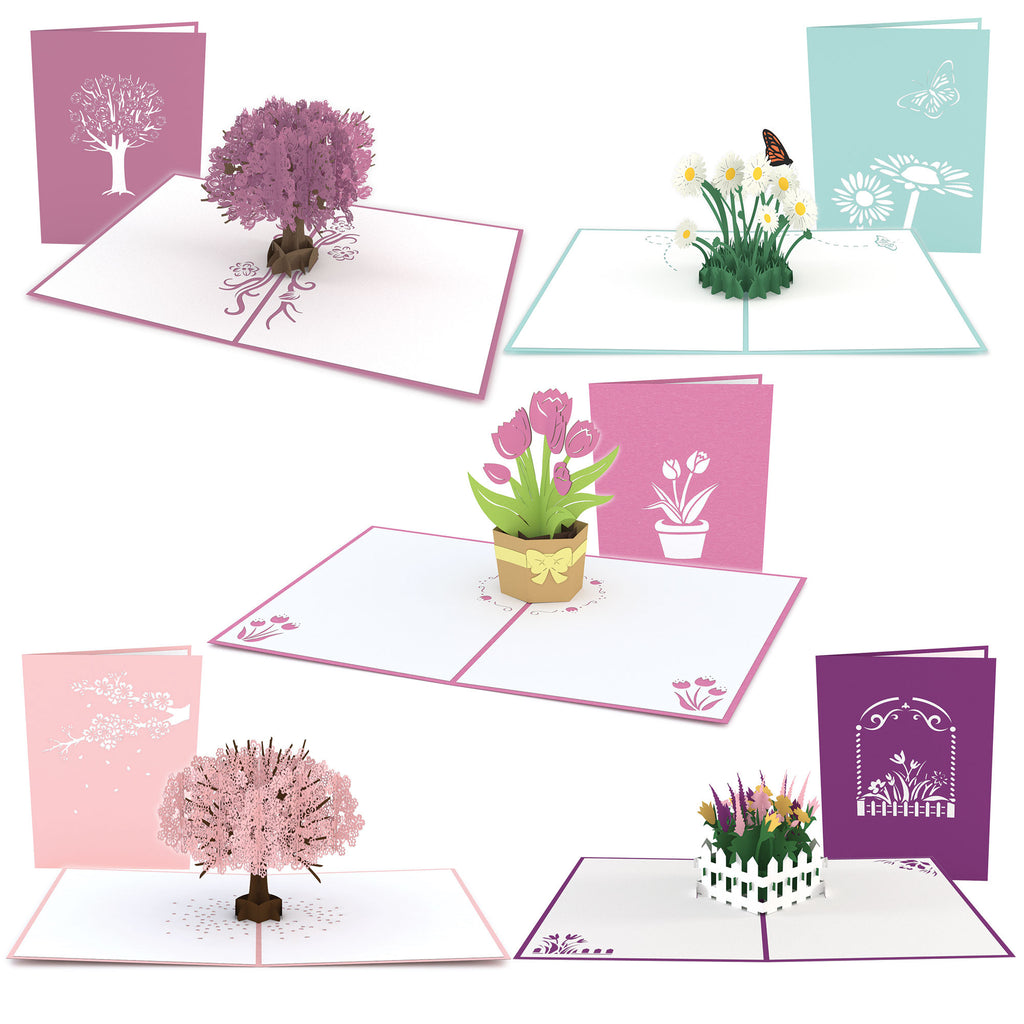 Mother's Day Floral 5 Pack pop up card