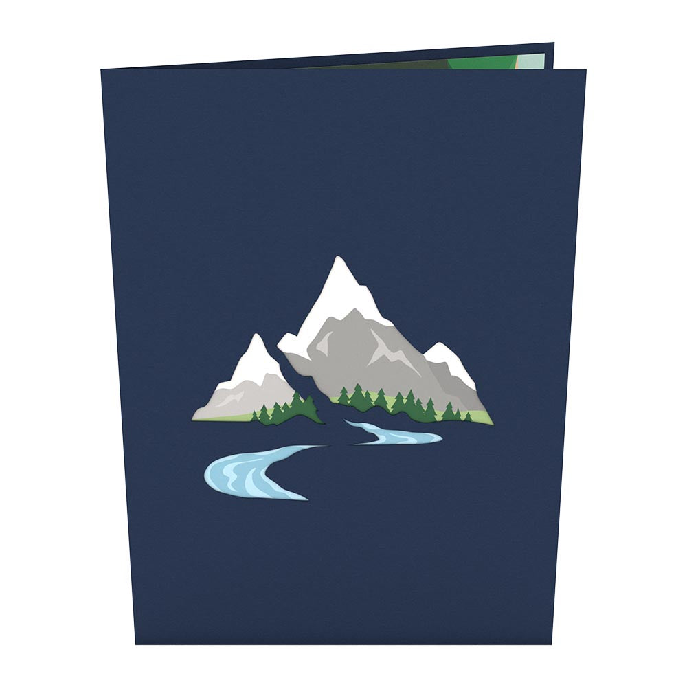 Mountains pop up card