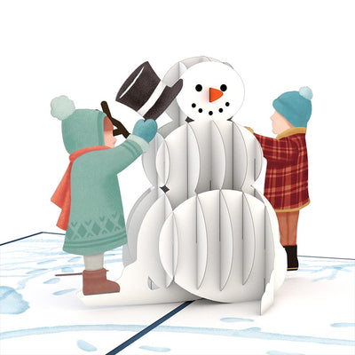 New in Plastic Lovepop Greeting Card Snowman with Children
