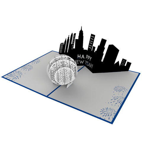 New York Ball Drop Pop Up New Year Card greeting card -  Lovepop