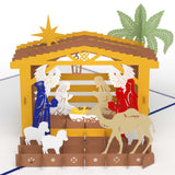 Nativity pop up card - thumbnail