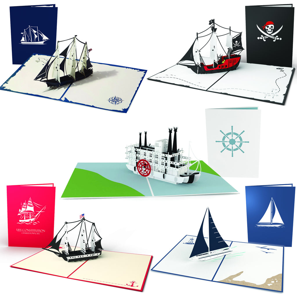 Nautical Card 5 Pack pop up card