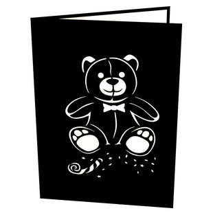Tuxedo Bear Pop Up New Year Card