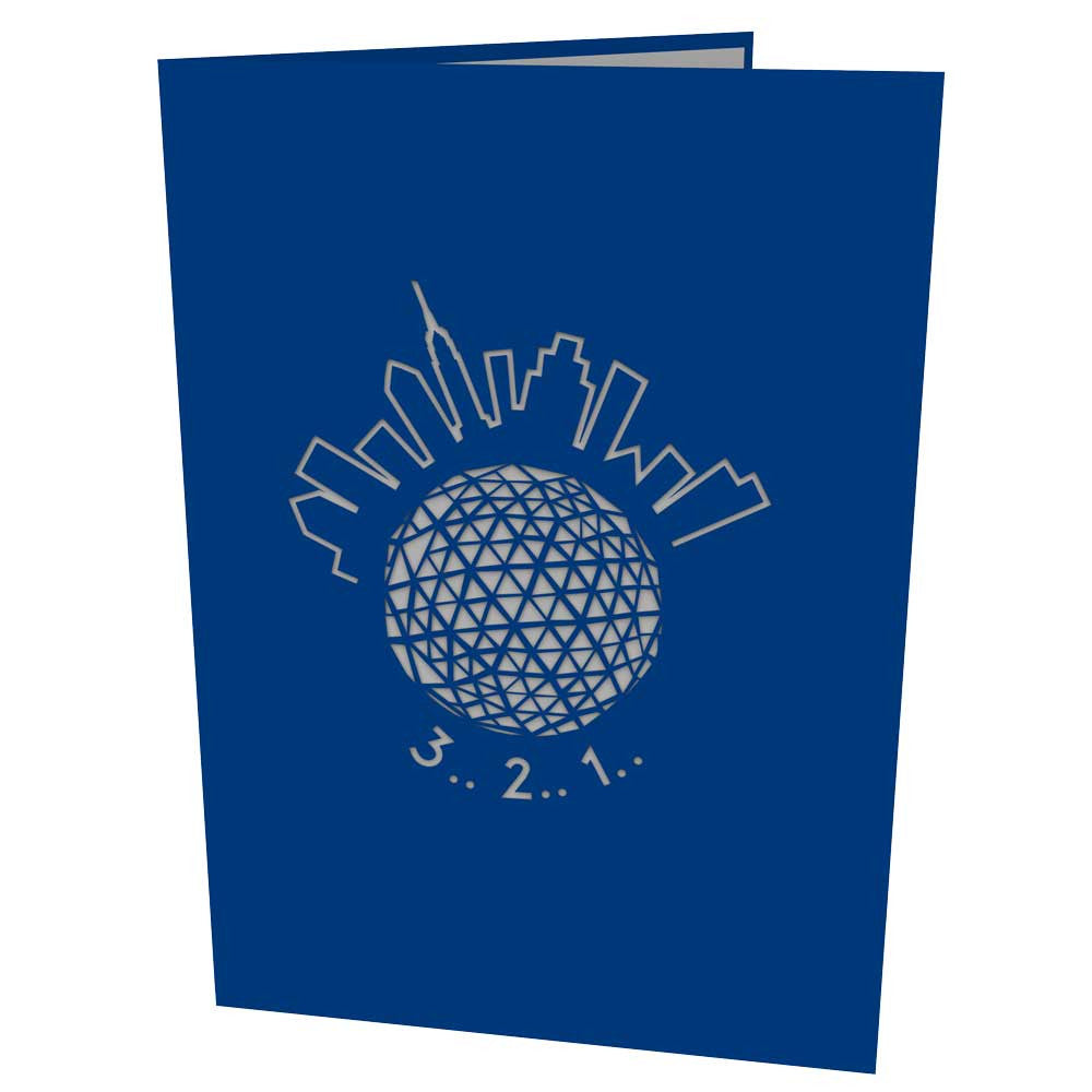 New York Ball Drop pop up card