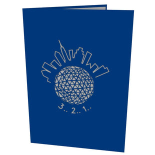New York Ball Drop Pop Up New Year Card
