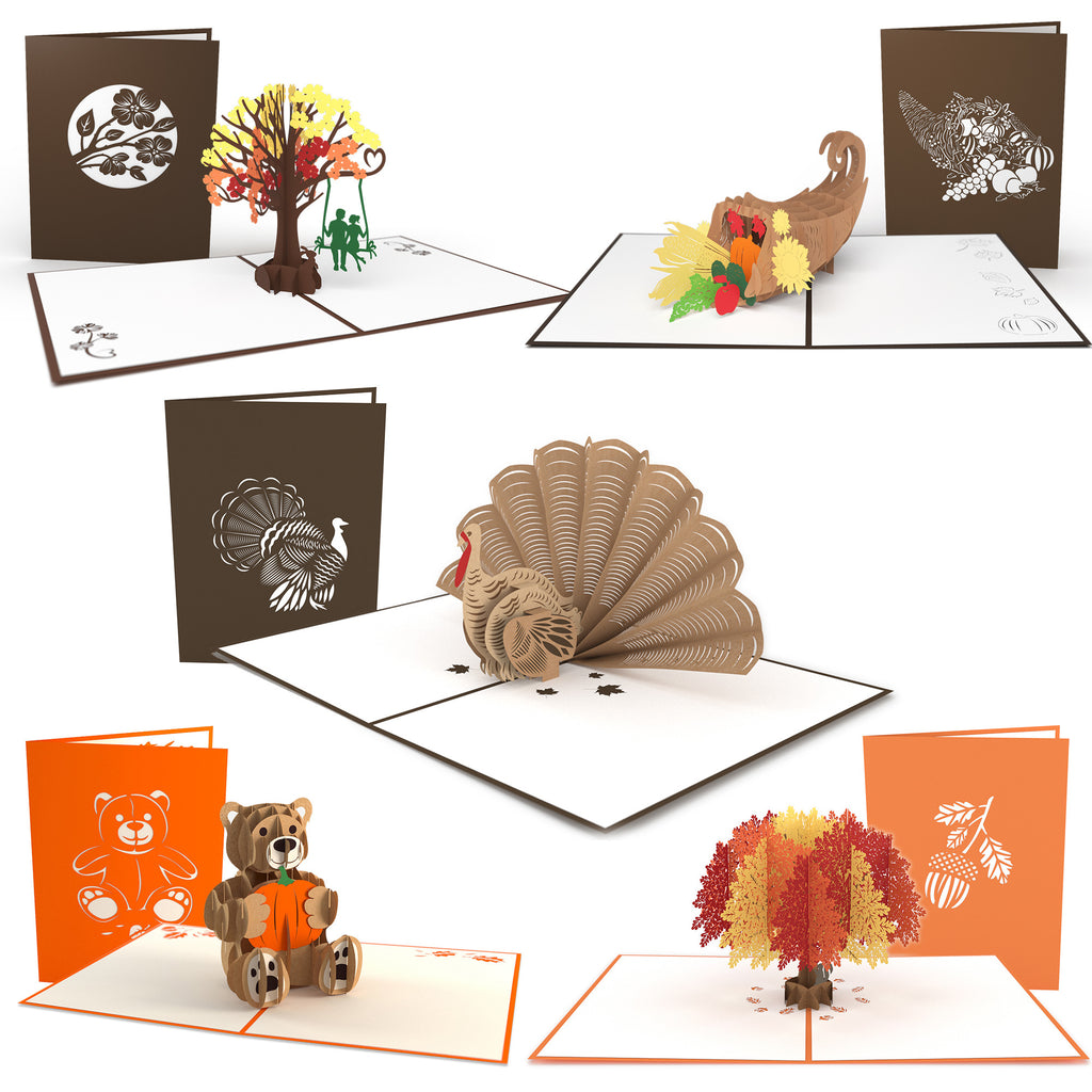 Fall 5 Pack pop up card