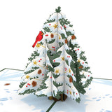 Mixed 20 Set: Christmas Trees pop up card - thumbnail