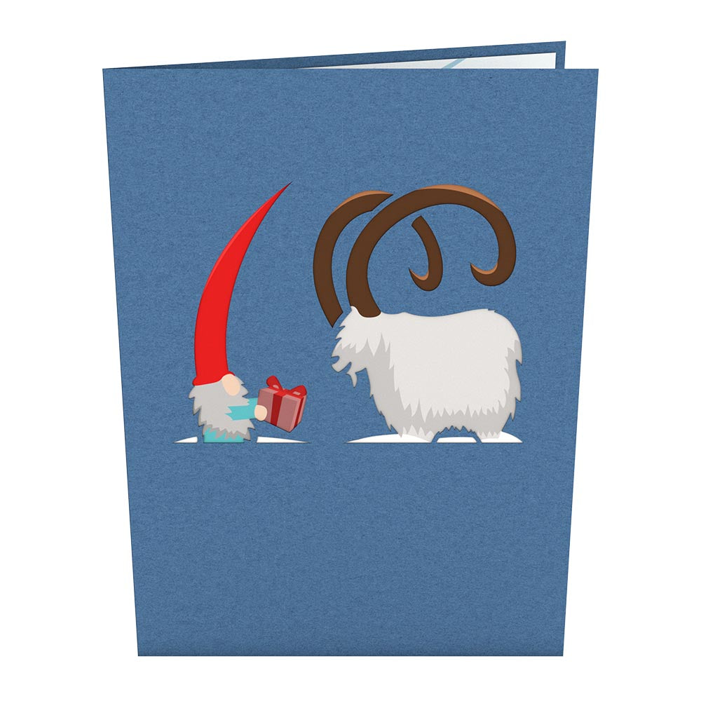 Nordic Gnome Sleigh Pop-Up Card