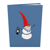 Nordic Snowman pop up card - thumbnail
