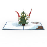 Nordic Christmas Tree                                   pop up card - thumbnail