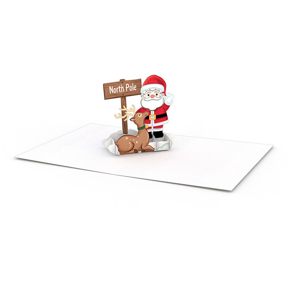 Santa Notecards (Assorted 4-Pack)             pop up card