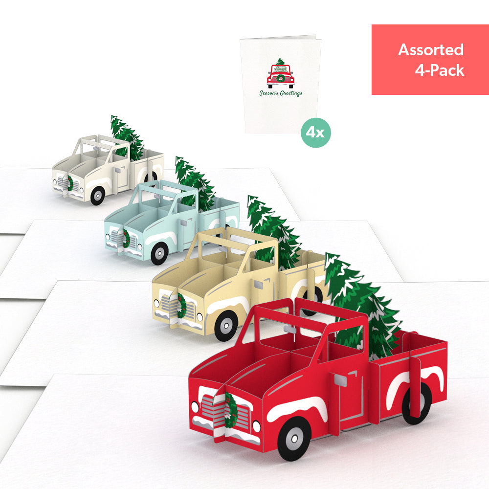 Holiday Truck Notecards (Assorted 4-Pack)