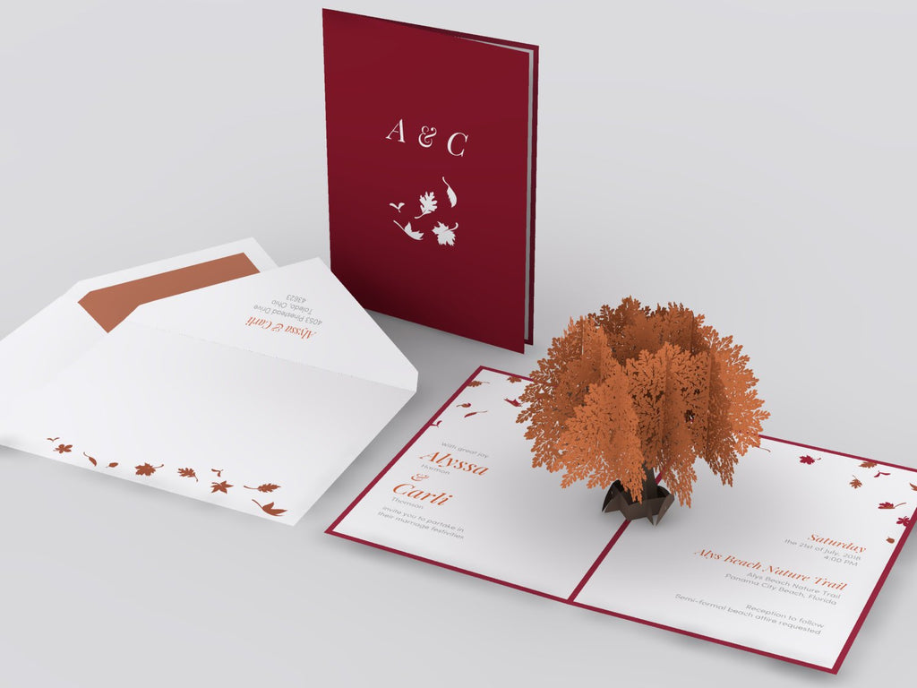 Oak Tree Wedding Invitation - Lovepop