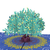 Olive Tree pop up card - thumbnail