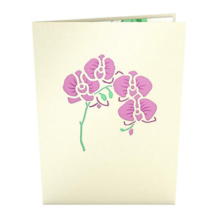 Orchid Bouquet Pop up Card