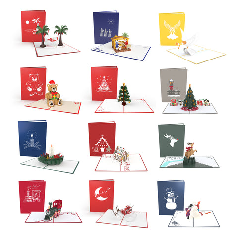 12 Days of Christmas greeting card -  Lovepop