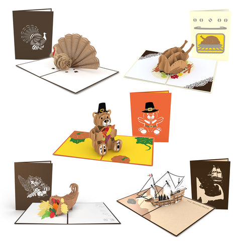 Thanksgiving 5 Pack greeting card -  Lovepop